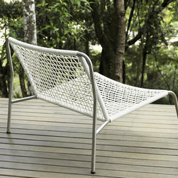 MODLOFT - Jubilee Lounge Chair - Jubilee lounge chair features carbon steel or painted frame with wicker seating.