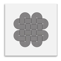 Gallery Direct - Kovalto1's 'Geometric Abstraction III' Canvas Gallery Wrap - A framed and matted print by artist Kovalto1.