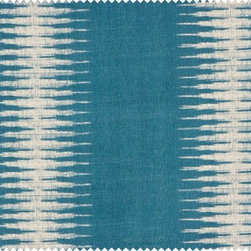 Ikat by Peter Dunham Textiles - I love the lines provided by this exotic Ikat pattern; it shakes up the way we've been seeing Ikat presented everywhere lately.