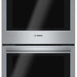 "Bosch - 500 Series HBL5651UC 30"" Electric Double Wall Oven with 4.6 cu. ft. Capacity  Ge - Boschs 500 Series 30 double wall oven features genuine European convection and heavy metal stainless steel knobs The heavy-duty metal knobs offer a premium European feel to make your kitchen appear more luxurious The genuine European convection allow..."
