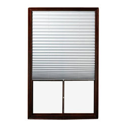 Achim - 1-2-3 Shade Vinyl Room Darkening Temporary Pleated Shades 75 Long - Buy in bulk and Save!! By buying sealed case packs of the shades that you need, you will save an average of 20-40% off of Amazon's prices . This deal cannot be passed up!  Lead free Vinyl construction. Installation harware included. These blinds can be shortened, the instructions to do so are enclosed. Very easy cleaning. Easy installation, just peel off the protective tape and stick to your window, no tools necessary. Can be cut to size. Can be raised and lowered unlike other temporary pleated shades. Easy installation, just peel off the protective tape and stick to your window, no tools necessary. Can be cut to size. Can be raised and lowered unlike other temporary pleated shades.