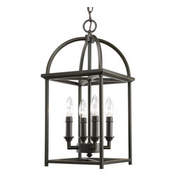 """Thomasville Lighting - Thomasville Lighting P3884-20 Antique Bronze Piedmont Piedmont 4 Light - Thomasville Lighting P3884-20 Four Light Piedmont Foyer PendantAdd enduring beauty and style to your home with the soaring arches and candle chaser accents of this four light foyer pendant. Featuring a simple vertical structure with open arching roof and center inspired by classic Shaker design, there are plenty of things to love about this particular fixture.Thomasville Lighting P3884-20 Features:Antique Bronze FinishSeveral Optional Shades AvailableThomasville Lighting P3884-20 Specifications:Number of Bulbs: 4Watts Per Bulb: 60Bulb Base: CandelabraBulb Type: IncandescentBulb Included: NoUL Listed: Dry LocationHeight: 20.375""""Maximum Overall Height: 95""""Width: 13.375""""Wire Length: 180""""The story of Thomasville began in Thomasville, North Carolina, in 1904. At the time, they offered just one product – a chair. The """"Thomasville Chair"""" it was called. The chair was so beautifully crafted and well made that people responded by asking them to create other pieces as well. For over 100 years Thomasville has set the standard for luxury design for the entire furniture industry. Now Thomasville is making available over a century of expertise in quality craftsmanship and exquisite styling in a stunning new line of elegant lighting. Thomasville Lighting will add beauty and value to your home with the timeless style and superior workmanship you have come to expect only from Thomasville."""