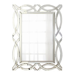Our Wall Mirrors - Unique all-glass decorative wall mirror