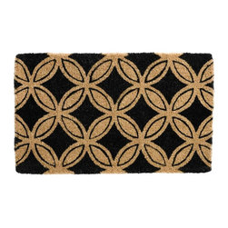 Tag Everyday - Geometric Coir Mat - Creates a welcoming entrance to your home. Stylish, functional and eco-friendly. Printed with pigment dyes. Best maintained under a protected area. Can be shaken, brushed or vacuumed clean. Made from natural hardy coconut fibers. 30 in. L x 18 in. W
