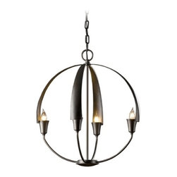 Forged Iron Small Orb Pendant Chandelier Light -