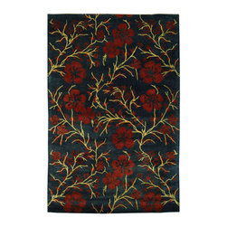 Safavieh - Metro Assorted Area Rug MET976C - 6' x 6' Round - This collection features a variety of vivid, striking colors and modern floral patterns inspired by classic designs. Add soft luxury and bold elegance to your living area with the Safavieh Metro Collection.