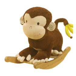 Charm Co. - Bananas Monkey Rocker with Sound - The Bananas Monkey rocker is made up of strong wood and covered by soft plush material.