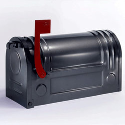 Ecco Steel Post Mount Mailbox in Charcoal - This is the Ecco Steel Post-Mount Mailbox in charcoal.  It is the same as one already posted here, just a darker color.  It retails for $145.00 with free shipping from http://www.mailboxixchange.com
