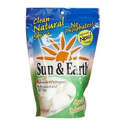 Sun And Earth Dishwasher Detergent - Case Of 6 - 20 Concentrated Packs - Resealable Package