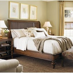 Lexington Home Brands - Lexington Home Brands Quail Hollow Ashland Platform Bed - LEX612 - Shop for Beds from Hayneedle.com! Blending traditional style with contemporary design the Quail Hollow Ashland Platform Bed creates a centerpiece for your bedroom. Made of select wood solids and veneers this bed features quartered mahogany with a rich warm finish. A distinctive headboard offers graceful curves and a textured panel design. Turned legs accent its clean look. Available in a variety of size options.About Lexington Home BrandsFounded in 1903 in High Point NC Lexington Home Brands has become a globally known manufacturer and marketer of unique home furnishings. They are an industry leader in design style and quality products. Their product line consists of upholstered and hardwood furniture under recognized brands such as Lexington Tommy Bahama Sligh and Henry Link Trading Co.. Lexington Home Brand's intentions and aspirations are to create exclusive designs and styles that accommodate the traditional contemporary casual and formal decors of their customers' homes.
