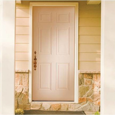 Smooth Skin Fiberglass Door Series - 3/0 x 6/8 Impact Series: Smooth Skin Six Panel ---