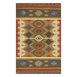 Rugsville - Rugsville Rug Southwestern 13688-46 Red - There are some abstract patterns that will go well along your modern home decor. You may even want to get some of these carpets for your living room and spacious places. There are different choices in colors, sizes and shapes as well. 100% Natural wooland Jute. Extremely durable for high traffic areas. Meticulously woven flat-weave rug handmade in India. Made by skilled artisans in the villages of North Central India with careful attention given to the pattern detailing.