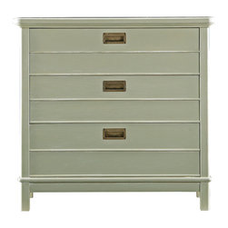Stanley Furniture - Coastal Living Resort Cape Comber Bachelor's Chest - We can't help but wonder, did unmarried young ladies not require storage as well? No matter, our Cape Comber Bachelor's Chest will not discriminate between the sexes when it comes to bedside storage. Actually, it won't mind if you use it somewhere other than the bedside either. It's three drawer design, featuring the nautical simplicity of cottage pulls, could fit in just about any room of the house. You may find it hard to decide where to place this little gem. Made to order in America.