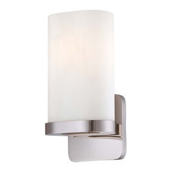 Kovacs - Kovacs P1706-613 1 Light Wall Sconce - Kovacs P1706-613 Single Light Wall SconceRounded corners pervade the sleek design of this ADA compliant bathroom wall sconce. The Etched Opal glass features an oval cross section while the rounded square backplate features a Polished Nickel finish.Kovacs P1706-613 Features: