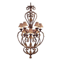 Metropolitan - Metropolitan N3643 10 Light 2 Tier Candle Style Chandelier Zaragoza Col - Ten Light Two Tier Candle Style Chandelier from the Zaragoza CollectionFeatures: