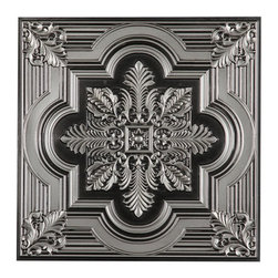 CT-206 Ceiling Tile - Antique Silver-Sample - Made from UV stabilized .35 mm vinyl thermoplastic.These tiles may be used in a grid system. These tiles are easy to install, easy to clean, stain and water resistant, resource friendly and delivered direct to your door! Please note that there is no minimum order on our in stock ceiling skins, so you may order single tiles if you want to see what they look like before placing a larger order.