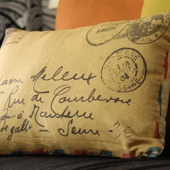 The Air Mail Letter Print Pillow Cover by Sweet Pillow