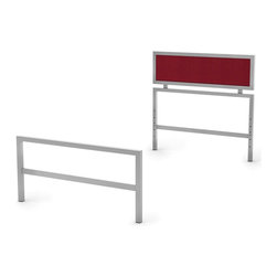 Amisco - Twin Headboard and Footboard in Silver - Reversible. Made from metal. 77.75 in. L x 38.25 in. W x 36.125 in. H (30 lbs.)The perfect bed to support their imagination.