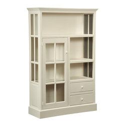 Chelsea Home Furniture - Chelsea Home Rebekah Kitchen Cupboard - What better place to store your everyday dishes in than the Rebekah Kitchen Cupboard? Shown in Country White, as it offers fresh simplicity and antique country style with its solid wood structure and glass paneled cabinet door. Standing at 71 inches high and 46 inches wide, this cupboard is sure to allow enough space for all your kitchen essentials. Chelsea Home Furniture proudly offers handcrafted American made heirloom quality furniture, custom made for you. What makes heirloom quality furniture? It's knowing how to turn a house into a home. It's clean lines, ingenuity and impeccable construction derived from solid woods, not veneers or printed finishes over composites or wood products _ the best nature has to offer. It's creating memories. It's ensuring the furniture you buy today will still be the same 100 years from now! Every piece of furniture in our collection is built by expert furniture artisans with a standard of superiority that is unmatched by mass-produced composite materials imported from Asia or produced domestically. This rare standard is evident through our use of the finest materials available, such as locally grown hardwoods of many varieties, and pine, which make our products durable and long lasting. Many pieces are signed by the craftsman that produces them, as these artisans are proud of the work they do! These American made pieces are built with mastery, using mortise-and-tenon joints that have been used by woodworkers for thousands of years. In addition, our craftsmen use tongue-in-groove construction, and screws instead of nails during assembly and dovetailing _both painstaking techniques that are hard to come by in today's marketplace. And with a wide array of stains available, you can create an original piece of furniture that not only matches your living space, but your personality. So adorn your home with a piece of furniture that will be future history, an investment that will last a lifetime.