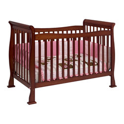 Da Vinci - Da Vinci Reagan 4-in-1 Convertible Wood Crib w/ Toddler Rail in Cherry - Da Vinci - Cribs - M2801C - The Reagan Crib is a practical piece of DaVinci engineering. Engineered for safety and style the Reagan Convertible Crib gives you years of comfort. In a few simple conversions your crib becomes a toddler bed or a daybed. With wooden bed rails it becomes a full-sized bed! It's practical. It's approachable. It's Reagan.
