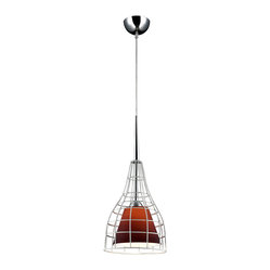 Bromi Design Nixon Purple Glass Lighting Pendant