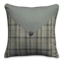 Mytex Llc. - Barnwood Patch 14-Inch x 14-Inch Toss Pillow - Complement your bedroom's style with this Cabelas Barnwood Patch Square Toss Pillow. This unique plaid pillow features a button for added detail.
