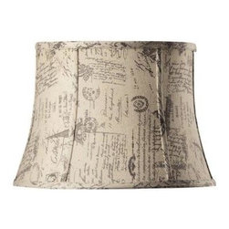 Home Decorators Collection - Home Decorators Collection Tapered Small 14 in. Diameter French Script Linen Dru - Shop for Lighting & Fans at The Home Depot. Bring the calm style and gentle shape of our Tapered Drum Linen Lamp Shade into your home for a lasting look. The flowing lines and ribbed shape will add that touch of elegance you've been looking for. Order yours today.