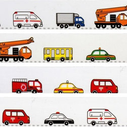 funny Deco Tape with colourful cars - colourful Cars Deco Tape
