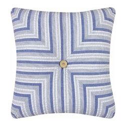 C & F Enterprises, Inc. - Nantucket Dream 14 x 14 Striped Quilt Pillow - -Cover: 100% Cotton Exclusive of Decoration  -Filling: 100% Polyester  -Spot Clean Only. C & F Enterprises, Inc. - 89193.1414A