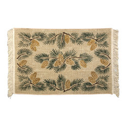 Earth Rugs - 527 Pinecone Rectangle Wicker Weave Rug 3'x5' - Pinecone Rectangle Wicker Weave Rug 3'x5'