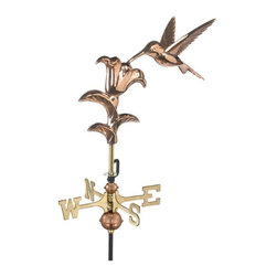 Good Directions - Hummingbird Polished Copper Garden Weathervane - Maintenance-Free Garden Weathervanes combine classic design with high-Quality craftsmanship. Includes garden pole. Figures, directional and spacer balls are made of copper and brass for beauty and longevity.