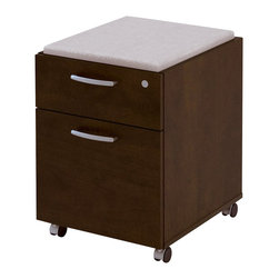 Bestar - Bestar Pro-Biz Assembled Mobile Wood Pedestal in Chocolate Finish - Bestar - Filing Cabinets - 1006401169