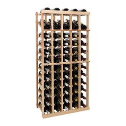 Wine Cellar Innovations - 4 ft. 5-Column Individual Wine Rack w Display (Rustic Pine - Light Stain) - Choose Wood Type and Stain: Rustic Pine - Light StainBottle capacity: 60. Five column wine rack. Versatile wine racking. Custom and organized look. Built in display row. Beveled and rounded edges. Ensures wine labels will not tear when the bottles are removed. Can accommodate just about any ceiling height. Optional base platform: 23.19 in. W x 13.38 in. D x 3.81 in. H (5 lbs.). Wine rack: 23.19 in. W x 13.5 in. D x 47.19 in. H (8 lbs.). Vintner collection. Made in USA. Warranty. Assembly Instructions. Rack should be attached to a wall to prevent wobble