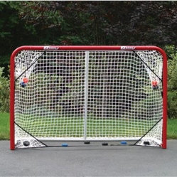 EZ Goal 2 Inch Steel Folding Hockey Goal with Targets