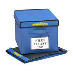Bin Warehouse - Bin Warehouse 9 Gallon Fold-A-Tote (Set of 6) - These Fold-A -Totes are the perfect size for all your filing needs. Sturdy, yet flexible, you will be able to access your files quickly and with ease. The lightweight canvas is moisture and mildew resistant to keep files clean and dry. The lid and PVC panels attach with velcro and fold quickly when not in use. Each tote has two heavy duty handles designed to accommodate heavier loads.