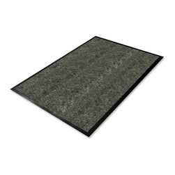 Genuine Joe - Genuine Joe Golden Series Walk-Off Mat - Warehouse - 72 Length x 48 Width - Indoor mat features a special carpet structure that provides better cleaning action and greater absorbency. Ribbed polypropylene carpeting cleans dirt and moisture from shoes, capturing it on contact and trapping it in the mat. Durable, chemical-resistant, vinyl backing ensures long product life. Mat is designed for indoor use.