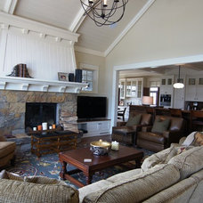Traditional Family Room by Baker Court Interiors