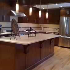 Modern Kitchen Cabinets by Angelo Vallianatos, Sales/Designs of Kitchen Craft