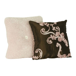 Cotton Tale Designs - Cupcake Pillow Pack (2 Piece) - A quality baby bedding set is essential in making your nursery warm and inviting. All Cotton Tale patterns are made using the finest quality materials and are uniquely designed to create an elegant and sophisticated nursery. This pillow pack includes two pillows, both measuring 12 x 12, one in pink and chocolate taffeta and the other in Curly Q fleece with white button. Can be used together or separately. Pillows should never be used inside the crib, solely used for decoration purposes. Perfect for your little girls nursery. Spot clean only. Cotton poly blend shell and poly fill.