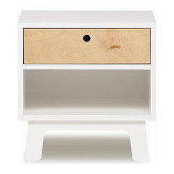 Oeuf - Sparrow Nightstand, White, By Oeuf - This super chic nightstand complements a modern bedroom perfectly. The neutral color palette is easy to work with, and the sleek profile will surely stand the test of changing trends. Best of all, it exceeds all ASTM safety standards so it's a great investment for a child's bedroom.