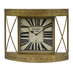 Benzara - Fascinating Gold Metal Wall Clock - The Wall Clock features a stylish frame encompassing its clock face. This wall clock exudes style and classic charm designed to accentuate your home decor. The perfect clock for your home, this clock also comes with large Roman numerals and easy to read dials. The dimensions of the Wall Clock are 23.25 +� 3.75 +� 18 (L +� W +� H). Metal; 23.25 +� 3.75 +� 18 (L +� W +� H)