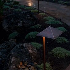 Contemporary Outdoor Lighting by Blooming Desert Landscapes