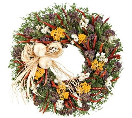 traditional holiday decorations by White Flower Farm