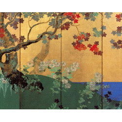 hand painted wallpaper Japanese style -