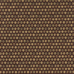 Brown and Beige Geometric Circles Durable Upholstery Fabric By The Yard - P7435 is great for residential, commercial, automotive and hospitality applications. This contract grade fabric is Teflon coated for superior stain resistance, and is very easy to clean and maintain. This material is perfect for restaurants, offices, residential uses, and automotive upholstery.
