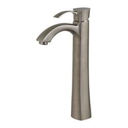 VIGO Industries - VIGO Otis Brushed Nickel Vessel Faucet - The Otis Vessel Faucet in brushed nickel combines a stylish, yet unassuming design
