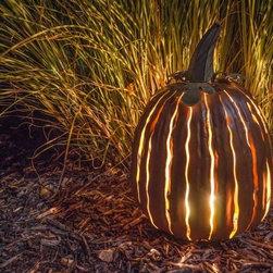 Outdoor Fall Pumpkin Decor - all backyard fun