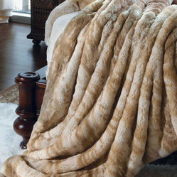 Blonde Mink Faux Fur Couture Throw Blanket