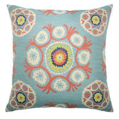 "New Elaine Smith Pillows - Machu Picchu Peruvian Dance - 22"" x 22"" Elaine Smith Pillows"