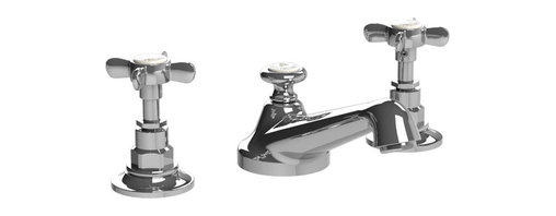 Lefroy Brooks - Classic Cross Handle Faucet, Polished Chrome - Known as the Rolls Royce of plumbing fixtures, Lefroy Brooks collections historically reference design aesthetics from turn of the century classics to today's minimalism. For over 25 years, Lefroy Brooks is known as the most recognized luxury-plumbing brand among the world's wealthiest consumers.